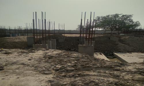 Hostel Block H2 –  column casting completed 11.05.2021