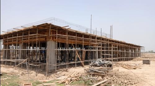 CAFETERIA & SHOPPING - slab shuttering work in progress & steel work in progress 31.05.2021