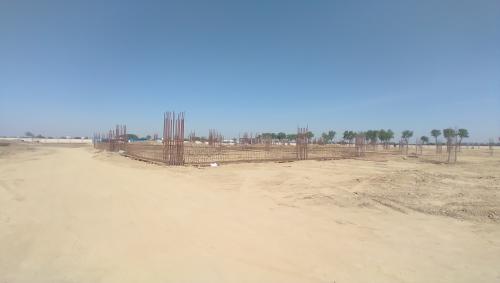 Dinning block – column casting work in completed soil filling work in progress grid slab works in progress 19.04.2021