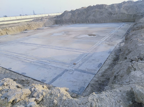 WATER TANK & Plant room  - Footing PCC work complete 25.01.2021