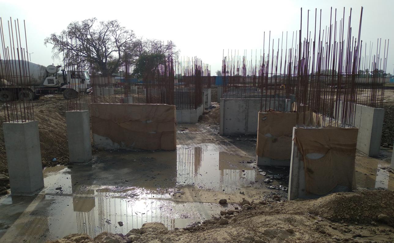 Hostel Block H5 – column layout work in progress &column casting work in progress 22.03.2021