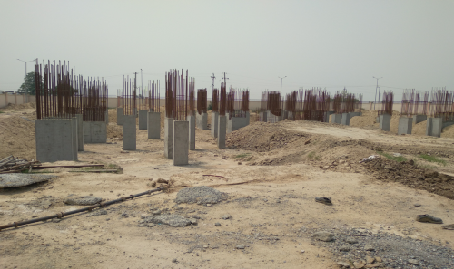 Associate Professors Residence – column casting work in completed 04.05.2021