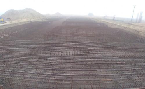 Faculty & Admin block –  Raft steel placing in progress 18.01.2021