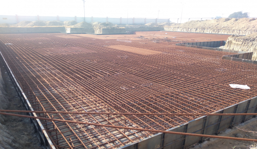 Associate Professors Residence – Raft steel placing in second layer completed (01-12-2020)