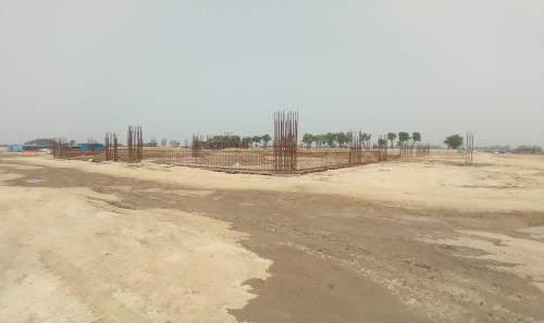 Dinning block –  soil filling work in completed  grade slab works in progress 04.05.2021