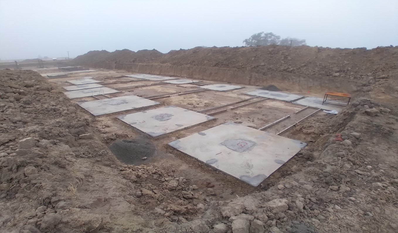 HEALTH CENTRE-Footing PCC work completed & layout in progress - (14-12-2020)