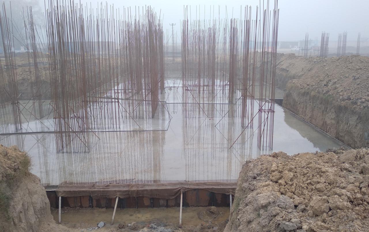 Hostel Block H7- Raft RCC work Completed 18.01.2021