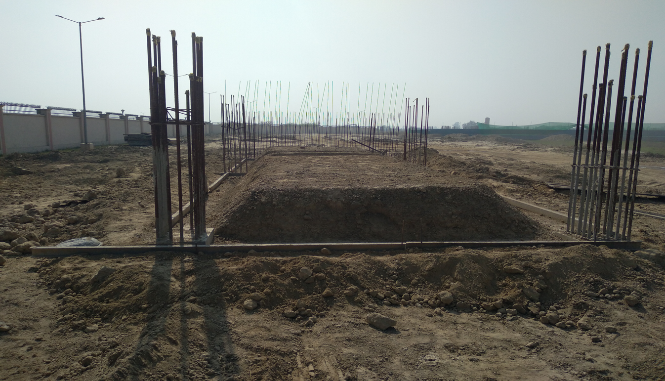 WAITING ROOM - RCC footing in complete column casting work in completed 01.03.2021