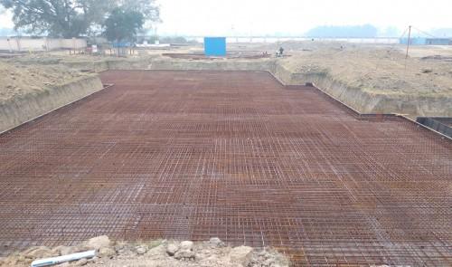 Hostel Block H5 – steel placing & binding work second layer in progress (23-11-2020)