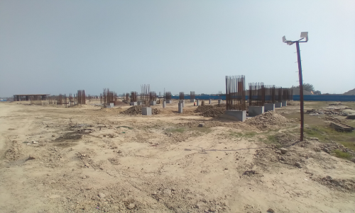 SPORTS COMPLEX – Shear wall & column casting work in completed 30.03.2021