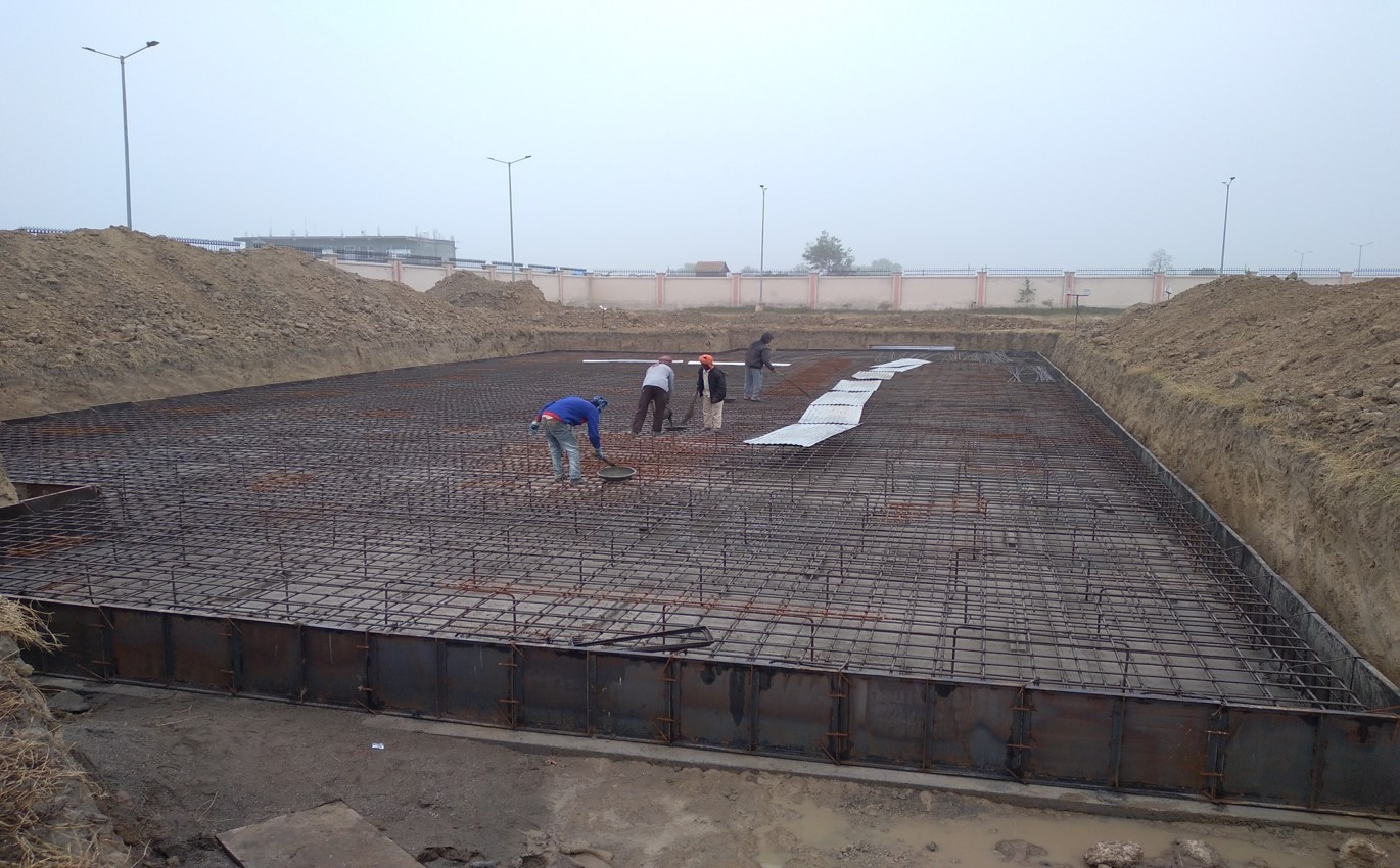 Hostel for Married Students - Steel placing & binding second layer work in progress - (14-12-2020)