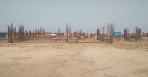 Academic block – 1st pit soil filling work in completed grade slab work in progress 11.05.2021